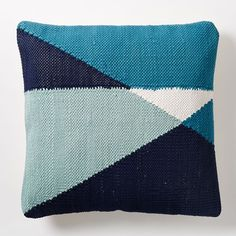 Chindi Colorblock Pillow Cover - Blue Teal | west elm
