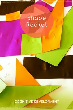 Knoala Early Preschooler Activity: 'Shape Rocket' helps little ones develop Cognitive, Motor and Artistic skills. #Knoala #KidsActivities *What an great collection of no-prep activities for kids!