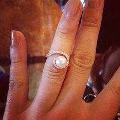 Pearl Engagement Rings - Allurez.com