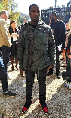 79fe512f54f9e4 Paris Fashion Week Streetstyle  Kanye West spotted outside of the Celine  Spring Summer 2013 fashion show during Paris Fashion Week wearing a Supreme  Field ...