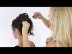 Great video instructions for a messy updo