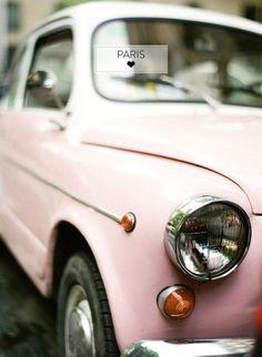 Photo Vintage, Vintage Pink, Vintage Cars, Vintage Travel, Fiat 600, Tout Rose, I Believe In Pink, Everything Pink, Retro