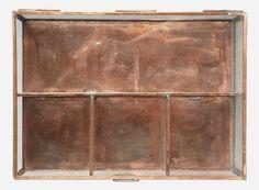Jewelry box, copper, 28x20 cm, h.: 7 cm