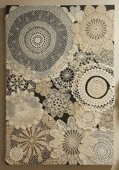 Antique doily art