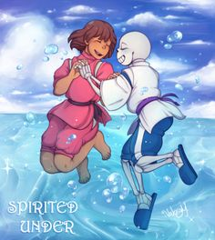 sans and frisk - spirited away