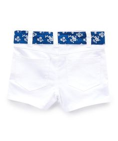 Crisp white meets summer-sky blue in this darling duo. Adjust the tie waist for a custom fit. Includes button-up, shorts and beltButton-up: cottonShorts: cotton / spandexMachine wash; Summer Sky, Belted Shorts, White Belt, Tween, Button Up, Crisp, White Shorts, Polka Dots, Navy