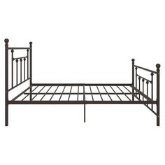 Manila Metal Bed - Full - Bronze - Dorel Home Products, Yellow