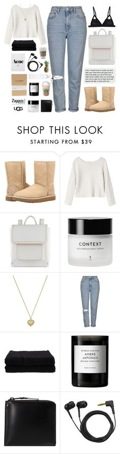 """""""The Icon Perfected: UGG Classic II Contest Entry"""" by alexis-belaruano ❤ liked on Polyvore featuring UGG, Monki, ALDO, Michael Kors, Topshop, Home Source International, Byredo, Comme des Garçons, Sennheiser and bathroom"""