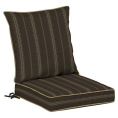 Bombay Outdoors Trevor Stripe Espresso Dining Seat Cushion Set - NG08092A-D9B1