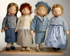 Милые сердцу штучки: Деревянные куклы Elisabeth Pongratz (Германия)