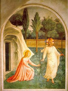Noli Me Tangere | Fra Angelico | 1440-41 | fresco | 70 7/8 x 57 1/2 in | Museo di San Marco dell'Angelico, Florence, Italy