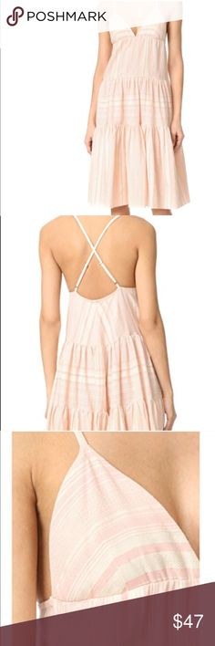 NWT Mara Hoffman Tiered Dress New with tags, never worn Mara Hoffman cotton tiered sundress. From 2017 collection. Adjustable straps, criss cross in back. Tag color says Peachy Pink. Purchased from marahoffman.com. 100% cotton. Mara Hoffman Dresses Midi