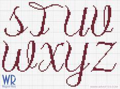do Wagner Reis): Alfabeto maiúsculo CHIQUE para ponto cruz (Gráfico