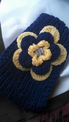 WVU color ear warmer knitted head band