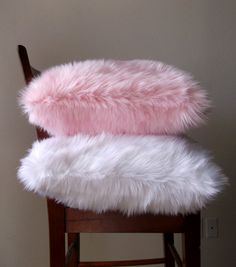 Baby-Pink Faux Fur Throw Pillow Cover Handmade One of a Kind Fur Pillow, Pillow Room, Fur Throw Pillows, Baby Pillows, Faux Fur Throw, White Pillows, Throw Pillow Covers, Decorative Throw Pillows, Sofa Pillows