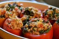 Chard Stuffed Tomatoes