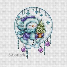 Muñeco de Nieve Navidad Medias de Navidad Personalizado Cuadro De Punto De Cruz X2