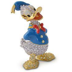 Jeweled Donald Duck Figurine by Arribas | Figurines & Keepsakes | Disney Store