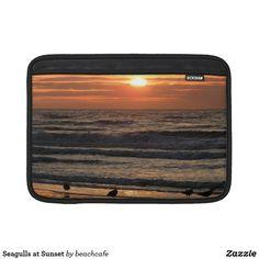 Seagulls at Sunset MacBook Air Sleeve