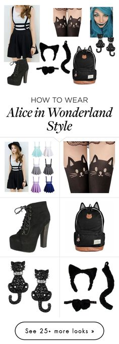 """""""Cat Costume"""" by beautyisamaze on Polyvore featuring Breckelle's and Tressa"""