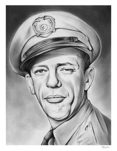 Don Knotts as Barney Fife Funny Caricatures, Celebrity Caricatures, Celebrity Drawings, Celebrity Portraits, Graphite Drawings, Pencil Art Drawings, Drawing Sketches, Cartoon Sketches, Sketching