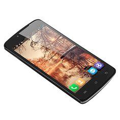2014 Nuevo 5.0 '' DOOGEE MINT DG330 negro pantalla táctil 3G Smartphone Dual SIM 1G RAM 4G ROM GPS WIFI Celular Android 4.2 MTK6582 Quad Core teléfono móvil