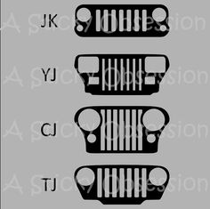 Jeep Wrangler Grill Decals Sticker by AStickyObsession on Etsy