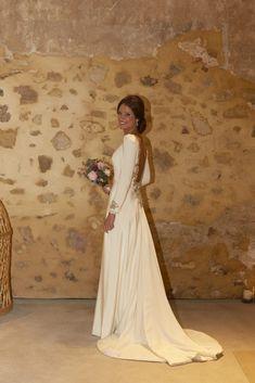 Descubre la espectacular espalda del vestido de novia de Sandra diseñado por Beatriz Alvaro para su boda