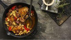 Španělské kuře s fazolemi z jedné pánve Foto: