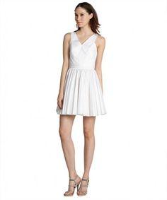 Robert Rodriguez white pleated cutout mini dress on WearsPress