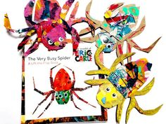hese Eric Carle inspired spiders from are so cool! from - What's your favourite Eric Carle Spider Crafts, Spider Art, Spider Template, The Very Busy Spider, Free Spider, October Art, September, Creative Activities For Kids, Creative Crafts