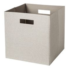 Threshold Decorative Fabric Cube Storage Bin - Assorted Colors - Natural