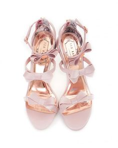 Bow Detail Strappy Satin Sandals