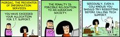 Mordac, The Preventer of Information Services. Dilbert.
