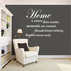 ">Wall Decal quote< ""MY HOUSE IS HUMBLE, MY HOME IS  ONE OF WARM HUGS, LAUGHTER, MUSIC, JOY, PETS AND SO MUCH LOVE!' @Melissa Nelson By BARBARA J. W. Jack"