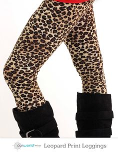 Leopard Print Leggings in Brown #leopard #leggings