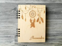 This unique personalized notebook dreamcatcher is great for jotting down your thoughts, ideas, goals, to do lists, etc.  We made this beautiful wooden notebook for a person who still love to write and draw their thoughts with a pen and paper. And we know how good it feels. But how would it feel to have absolutely personalized engraved pad? We checked – it's also good. So If you love using personalized journal instead of apps or you know someone who does – this stuff will make a perfect…