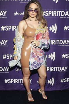 JoJo Levesque attends Justin Tranter and GLAAD Present 'BEYOND' Spirit Day Concert at The Sayers Club on October 2018 in Hollywood, California. Curvy Celebrities, Hottest Female Celebrities, Beautiful Celebrities, Celebs, Beautiful Ladies, Jojo Singer, Justin Tranter, Cuerpo Sexy, Jojo Levesque