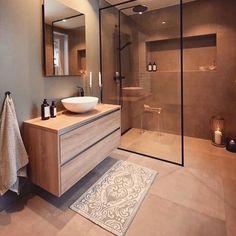 Cozy Bathroom, Bathroom Goals, Small Bathroom, Bathroom Ideas, Beige Bathroom, Scandinavian Bathroom, Vanity Bathroom, Bathroom Layout, Bathroom Storage