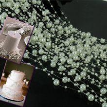 Свадебные Украшения 10 М Жемчуг Замороженные Партия Гирлянды Центральным Цветок…
