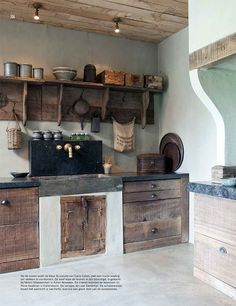 Handmade Rustic & Southwestern Decor - Rustic Home Decor - Rustic Kitchen, Country Kitchen, Kitchen Decor, Küchen Design, House Design, Interior Design, Primitive Homes, Rustic Interiors, Kitchen Interior