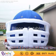1280.00$  Buy now - http://aliq12.worldwells.pw/go.php?t=32748369638 - Free express Blue enclosure inflatable football helmet tunnel toy tents