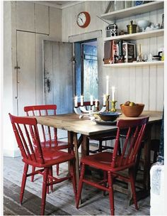 Painted chairs for table - Swedish inspiration