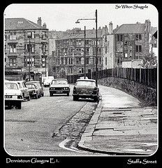 Staffa Street, Dennistoun Gorbals Glasgow, Glasgow City, Famous Architecture, Glasgow Scotland, Bobs, Street View, Memories, Black And White, History