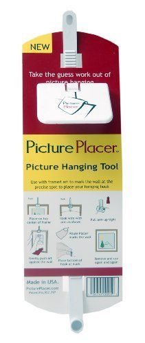 Hangman Products PP-1 Picture Placer by Hangman. $10.34. From the Manufacturer                Picture placer hanging tool , finally a simple way to hang framed art that uses a hanging wire on the back of frames. Hang it right the first time, every time. Picture placer shows you where to put the hook. Picture placer is simple, yet it works.                                    Product Description                Get the picture straight every time with this Perfect Pict...