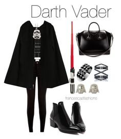 """""""Darth Vader"""" by msfrancescaaloe on Polyvore featuring Alexander McQueen, Waterford, Eva Fehren, Givenchy, women's clothing, women's fashion, women, female, woman and misses"""