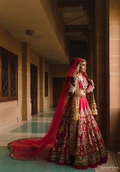 Who said only a gown can have a train? Well, if you go by brides who love drama, then a train can really be added to anything- even a saree or a lehenga. So here are some of our fave brides who rocked. Indian Wedding Gowns, Indian Bridal Outfits, Indian Bridal Lehenga, Indian Bridal Fashion, Indian Bridal Wear, Bridal Dresses, Bridal Dupatta, Wedding Lehnga, Indian Gowns
