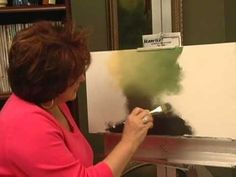 Acrylic Painting Techniques - Painting An Acrylic  Mottled Background