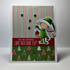 Just a quick holiday card featuring the BB Santa's Elves stamp set by My Favorite Things and coordinating dies. I love the whimsy in this stamp set and the elves are easy to color. I was able…