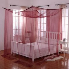 Transform your bed into a magical sanctuary with the Palace Four Poster Bed Canopy . This bed canopy can either be hung from the ceiling or mounted on. 4 Poster Bed Canopy, Four Poster Bed, Girls Bedroom, Master Bedroom, Master Suite, Queen Bedroom, Bedroom Wardrobe, 4 Post Bed, Bedroom Furniture